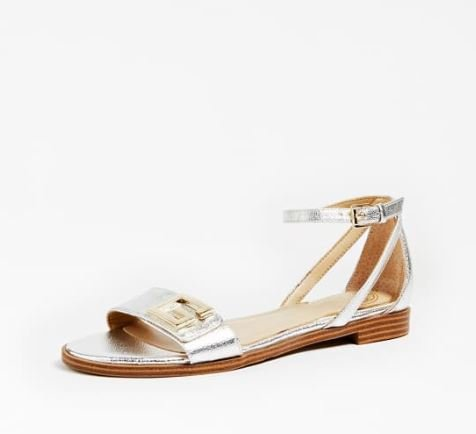 Guess sandalo basso argentato estate 2020 modello Rashida