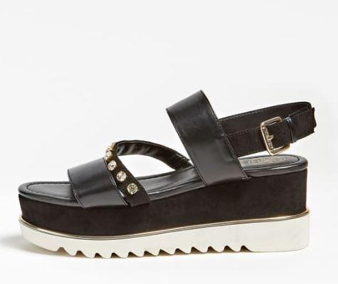 Sandalo platform Guess modello Ledell