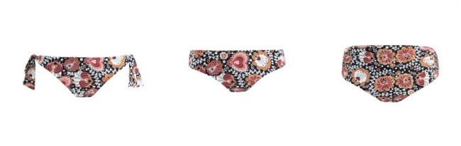 Slip bikini Goldenpoint estate 2020 a macro fiori