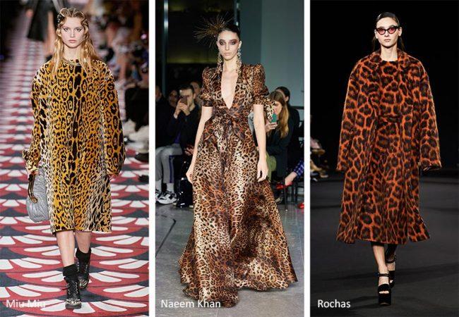 Stampa animalier leopardata moda abbigliamento inverno 2020 2021