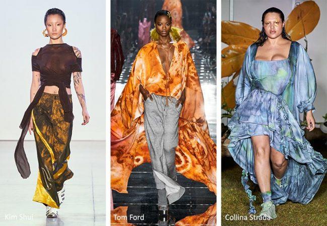 Stampa tie dye moda abbigliamento donna inverno 2020 2021