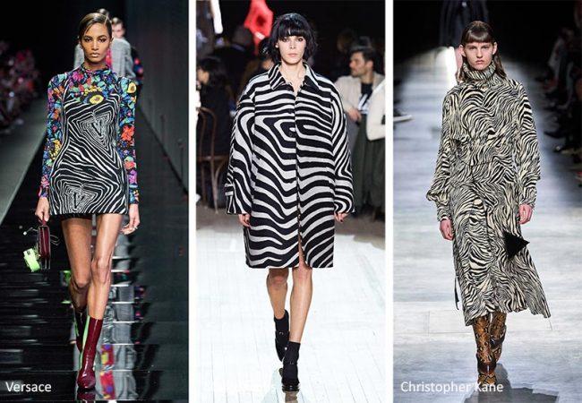Stampa zebrata Moda donna inverno 2020 2021