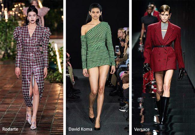 Tendenze moda abbigliamento donna inverno 2020 2021 fantasia pied de poule