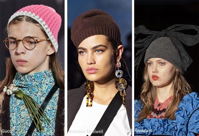 Berretti in lana moda donna inverno 2020 2021