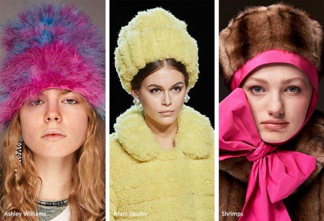 Berretti in pelliccia sintetica moda inverno 2020 2021