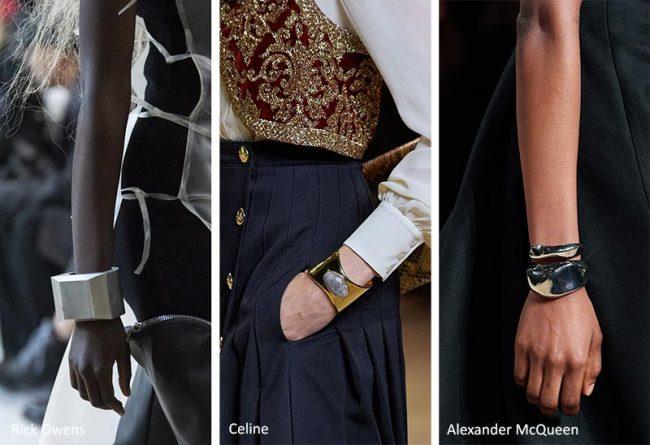 Bracciali rigidi oversize moda inverno 2021