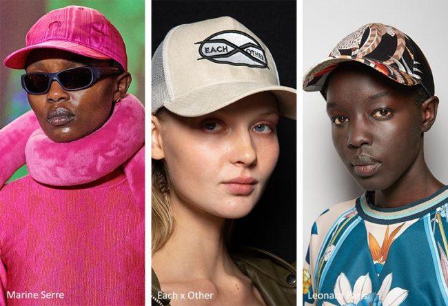Cappellino da baseball moda femminile inverno 2021