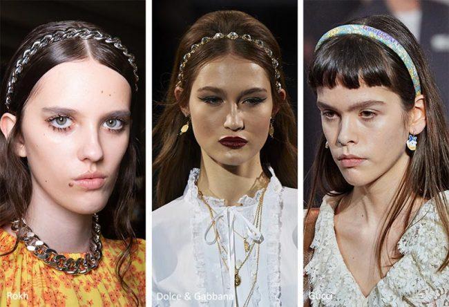 Cerchietti per capelli moda donna inverno 2020 2021