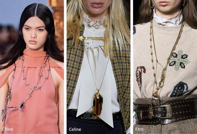 Collane lunghe moda gioielli inverno 2020 2021