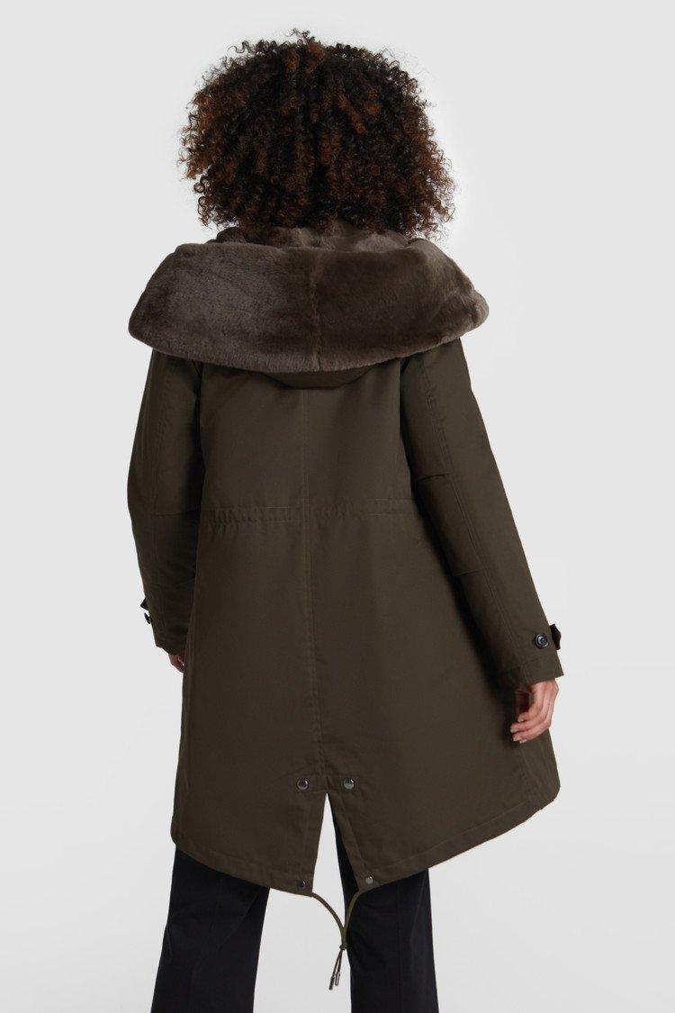 Literary Parka Woolrich con pelliccia di volpe prezzo 1130 euro