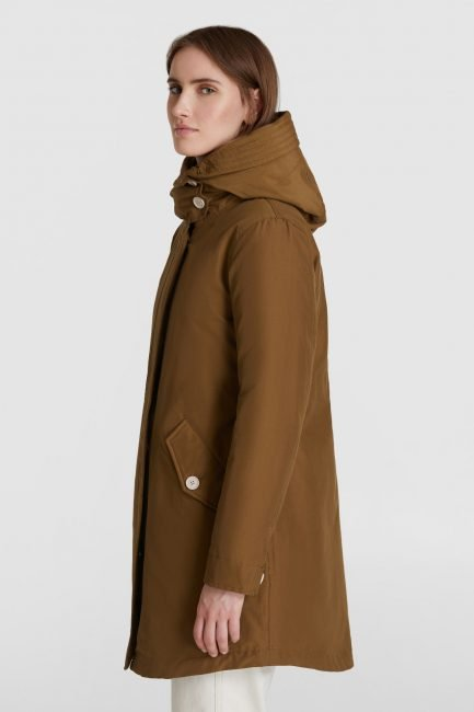 Military parka ecologico Woolrich 3 in 1 inverno 2020 2021 colore kangaroo brown