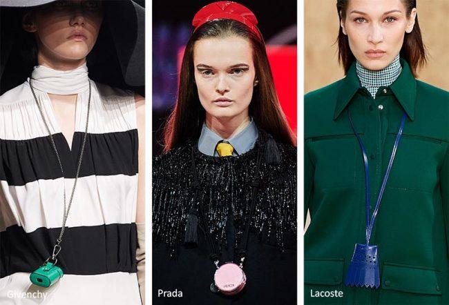 Mini bag a collana moda inverno 2020 2021
