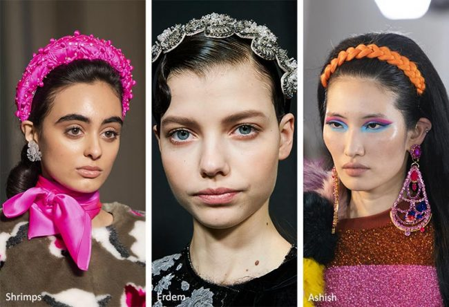 Moda cerchietti per capelli inverno 2020 2021