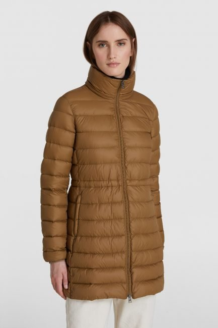 Piumino interno Military parka ecologico Woolrich 3 in 1 inverno 2020 2021 colore kangaroo brown