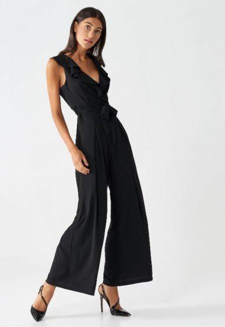 Tuta elegante con pantaloni palazzo Rinascimento inverno 2020 2021