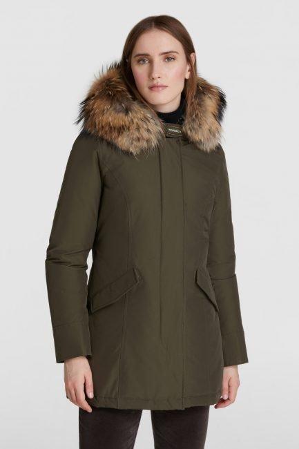 Woolrich Arctic Parka con pelliccia sul cappuccio colore dark green inverno 2020 2021